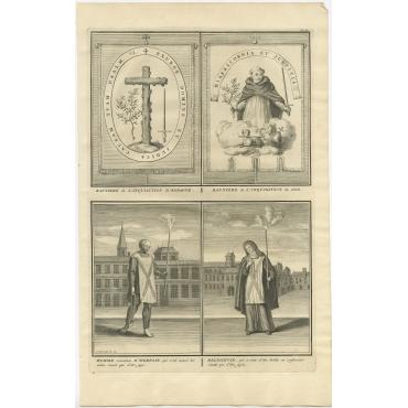 Banniere de l'Inquisition d'Espagne - Picart (1722)