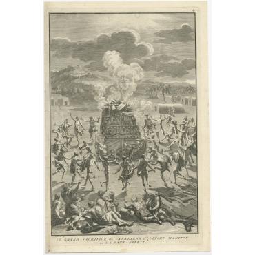 Le grand Sacrifice des Canadiens (..) - Picart (1723)