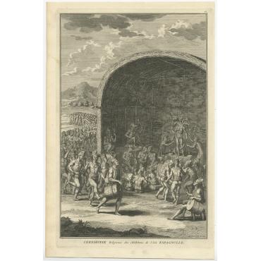 Ceremonie Religieuse des Habitans de l'Isle Espagnolle - Picart (1722)