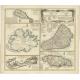 Dominia Anglorum in praecipuis Insulia Americae (..) - Homann (c.1745)