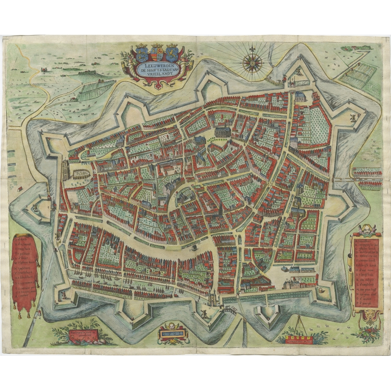 Leeuwerden de Hooftstadt van Vrieslandt - Feddes (1622)