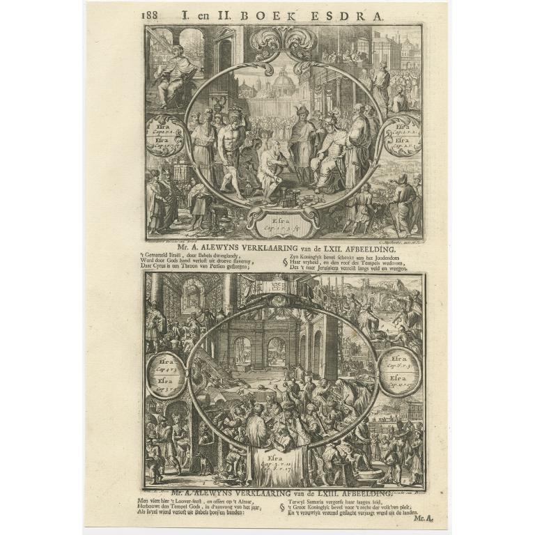 P. 188 I. en II. Boek Esdra - Lindenberg (1705)
