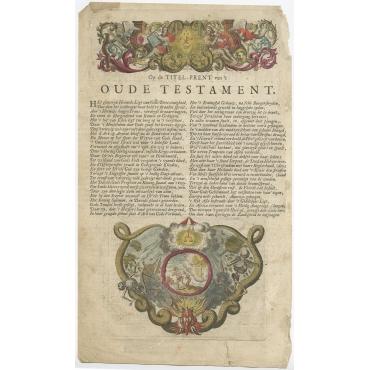 Frontispiece Groot Waerelds Tafereel - Lindenberg (1721)