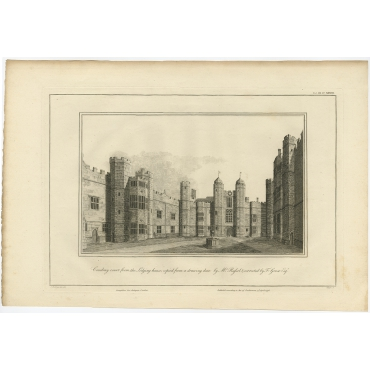 Cowdray Court from the Lodging house (..) - Basire (1796)