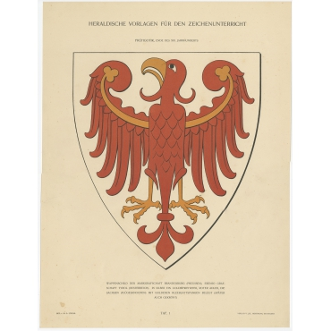 Taf I. Wappenschild der Markgrafschaft Brandenburg (..) - Ströhl (1910)