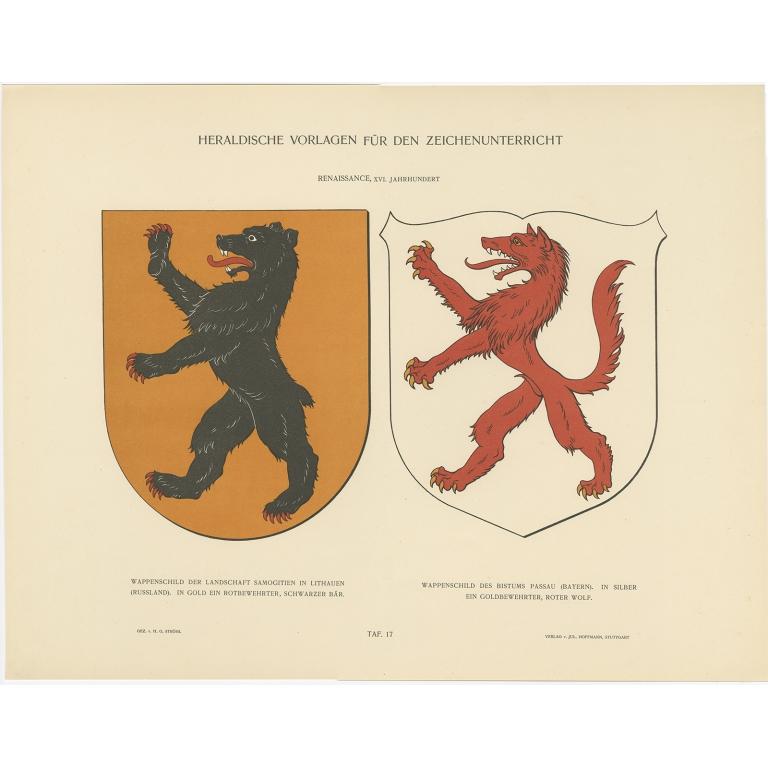 Taf 17. Wappenschild der Landschaft Samogitien (..) - Ströhl (1910)