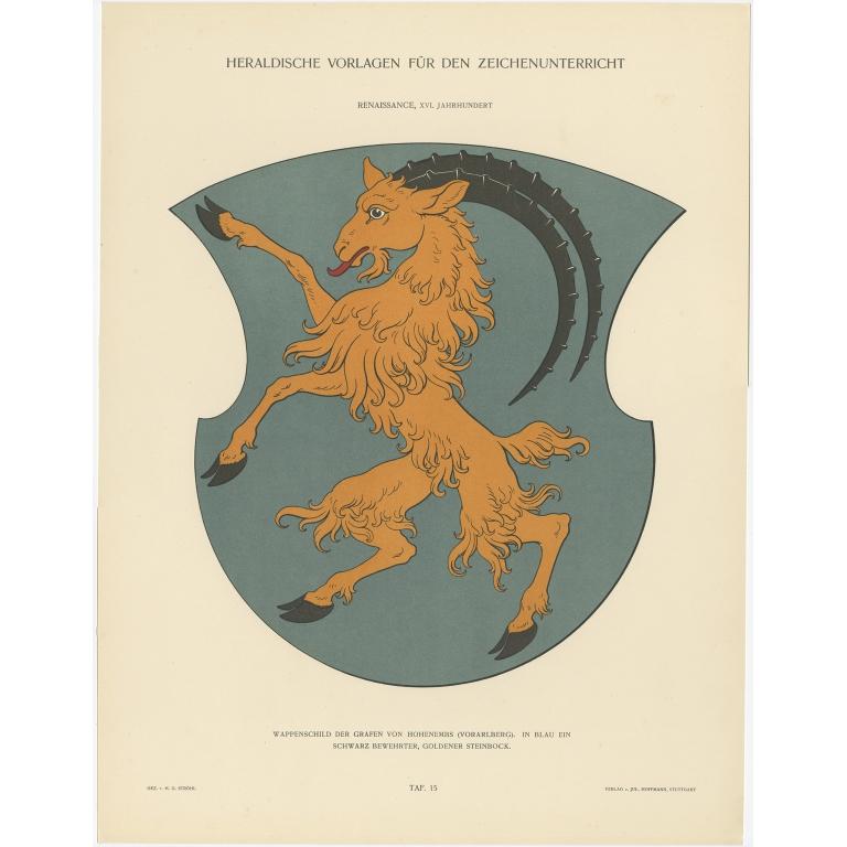 Taf 15. Wappenschild der Grafen von Hohenembs (..) - Ströhl (1910)