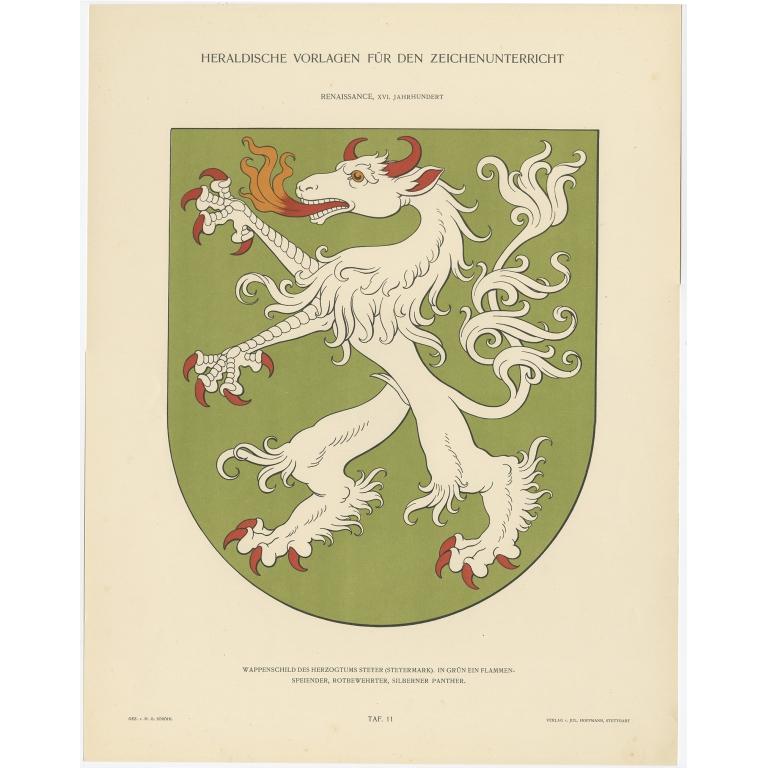 Taf 11. Wappenschild des Herzogtums Steyer (..) - Ströhl (1910)