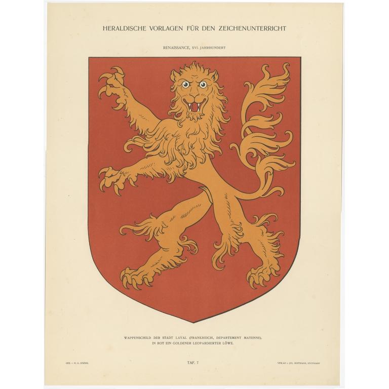 Taf 7. Wappenschild der Stadt Laval (..) - Ströhl (1910)