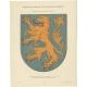 Taf 5. Wappenschild der Herrschaft Jever (..) - Ströhl (1910)
