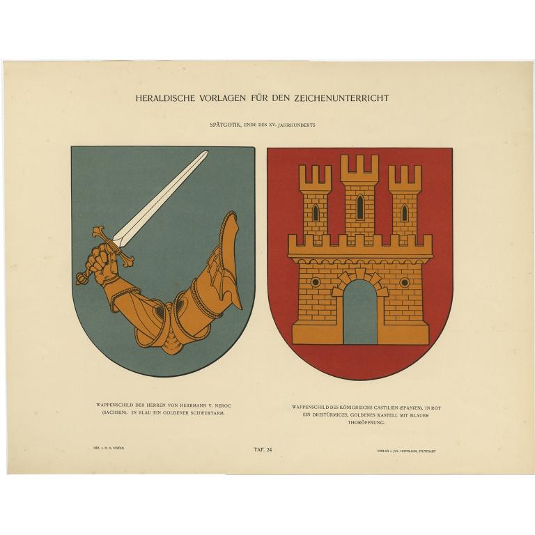 Taf 24. Wappenschild der Herren von Herrmann v. Neroc (..) - Ströhl (1910)