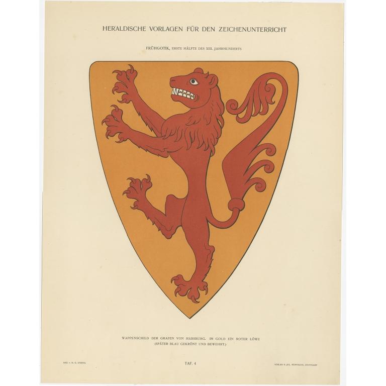 Taf 4. Wappenschild der Grafen von Habsburg (..) - Ströhl (1910)