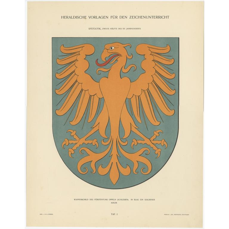 Taf 2. Wappenschild des Fürstentums Oppeln (..) - Ströhl (1910)