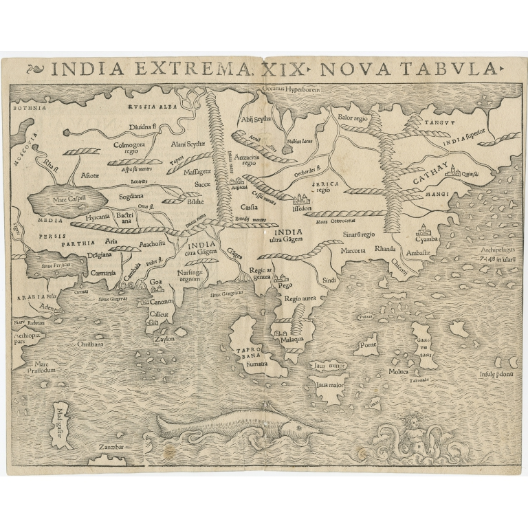 India Extrema XIX Nova Tabula - Münster (1540)
