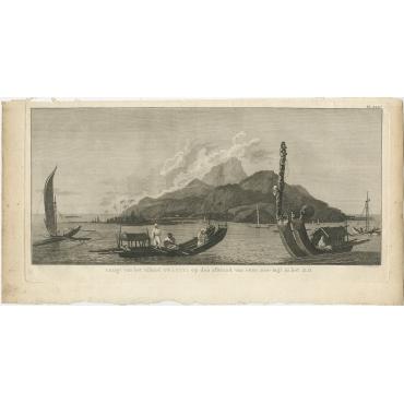 Gezigt van het eiland Otahiti (..) - Cook (1803)