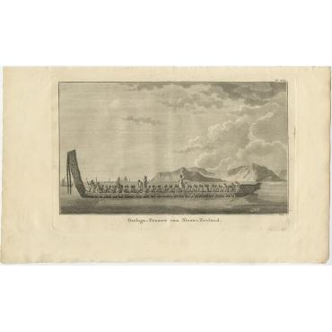 Oorlogs-Praauw van Nieuw-Zeeland - Cook (1803)