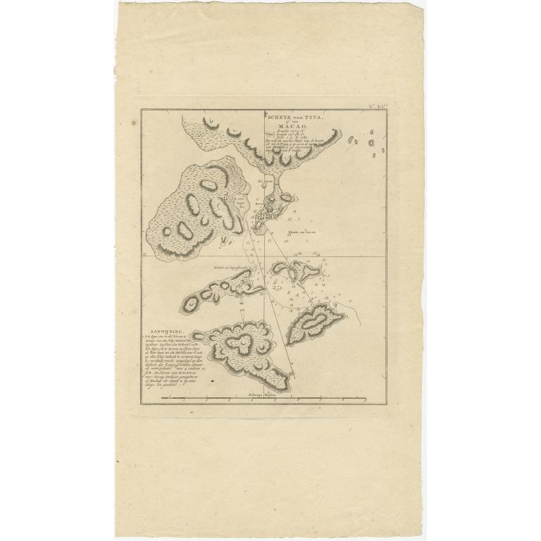 Schets van Typa of van Macao - Cook (1803)
