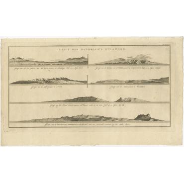 Gezigt der Sandwich's Eilanden - Cook (1803)