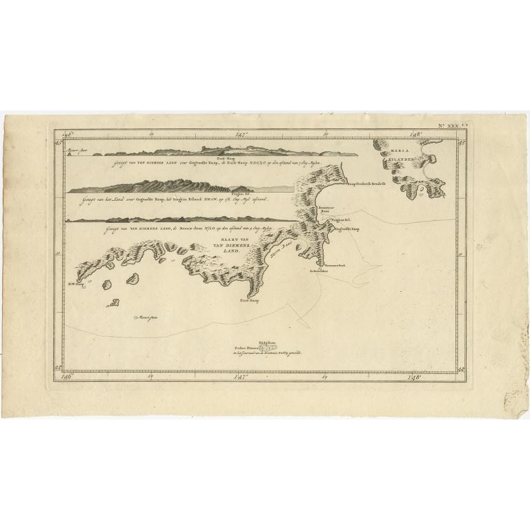 Kaart van Diemens Land - Cook (1803)
