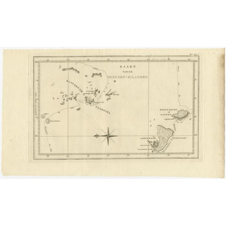 Kaart van de Vrienden-Eilanden - Cook (1803)