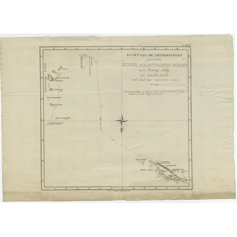 Kaart van de Ontdekkingen (..) - Cook (1803)
