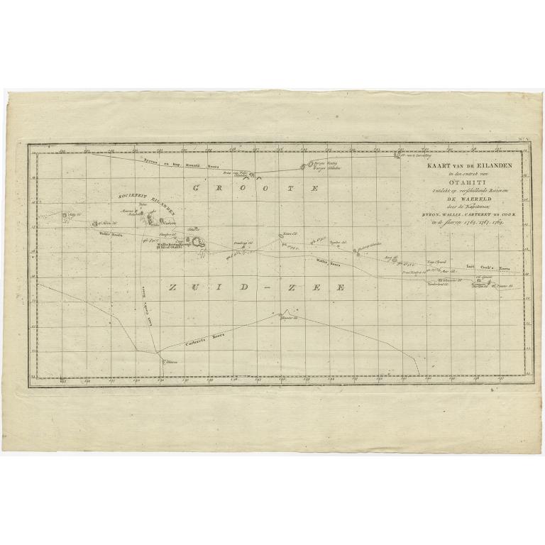 Kaart van de Eilanden in den omtrek van Otahiti (..) - Cook (1803)