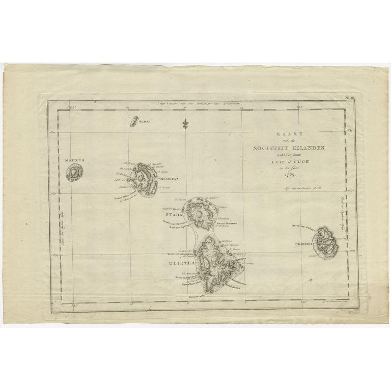 Kaart van de Societeit Eilanden (..) - Cook (1803)