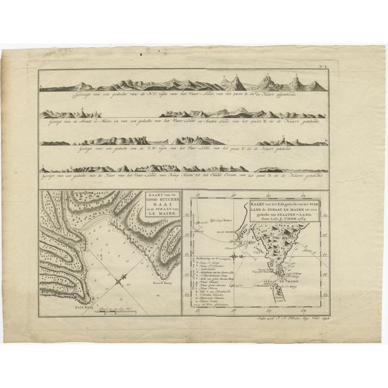 Kaart van de Good Success Baai (..) - Cook (1803)