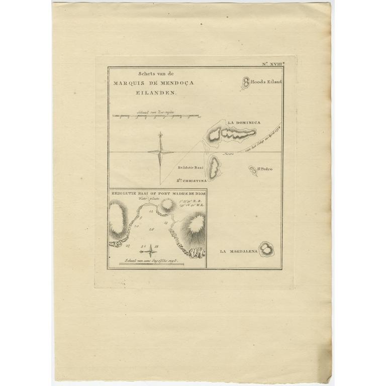 Schets van de Marquis de Mendoca Eilanden - Cook (1803)