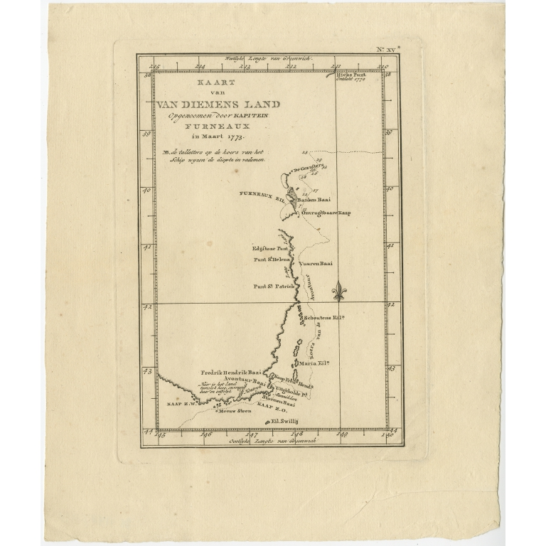 Kaart van Van Diemens Land - Cook (1803)