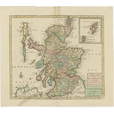 Nieuwe Kaart van 't Noorder Gedeelte van GrootBritannie (..) - Tirion (c.1750)