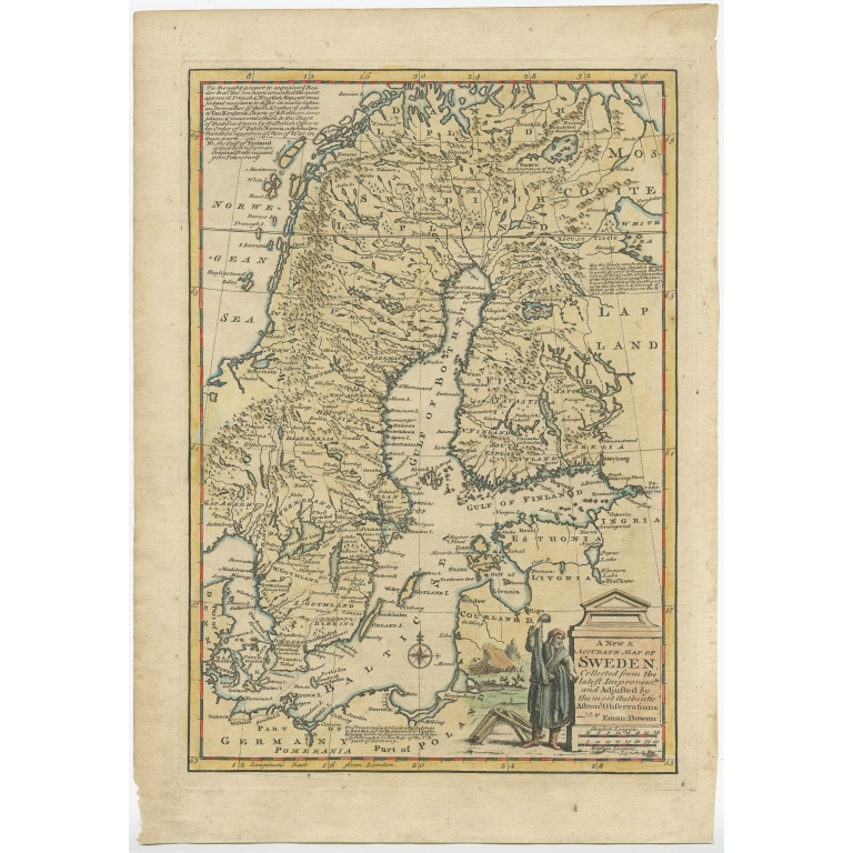 A New & Accurate Map of Sweden - Bowen (1747)