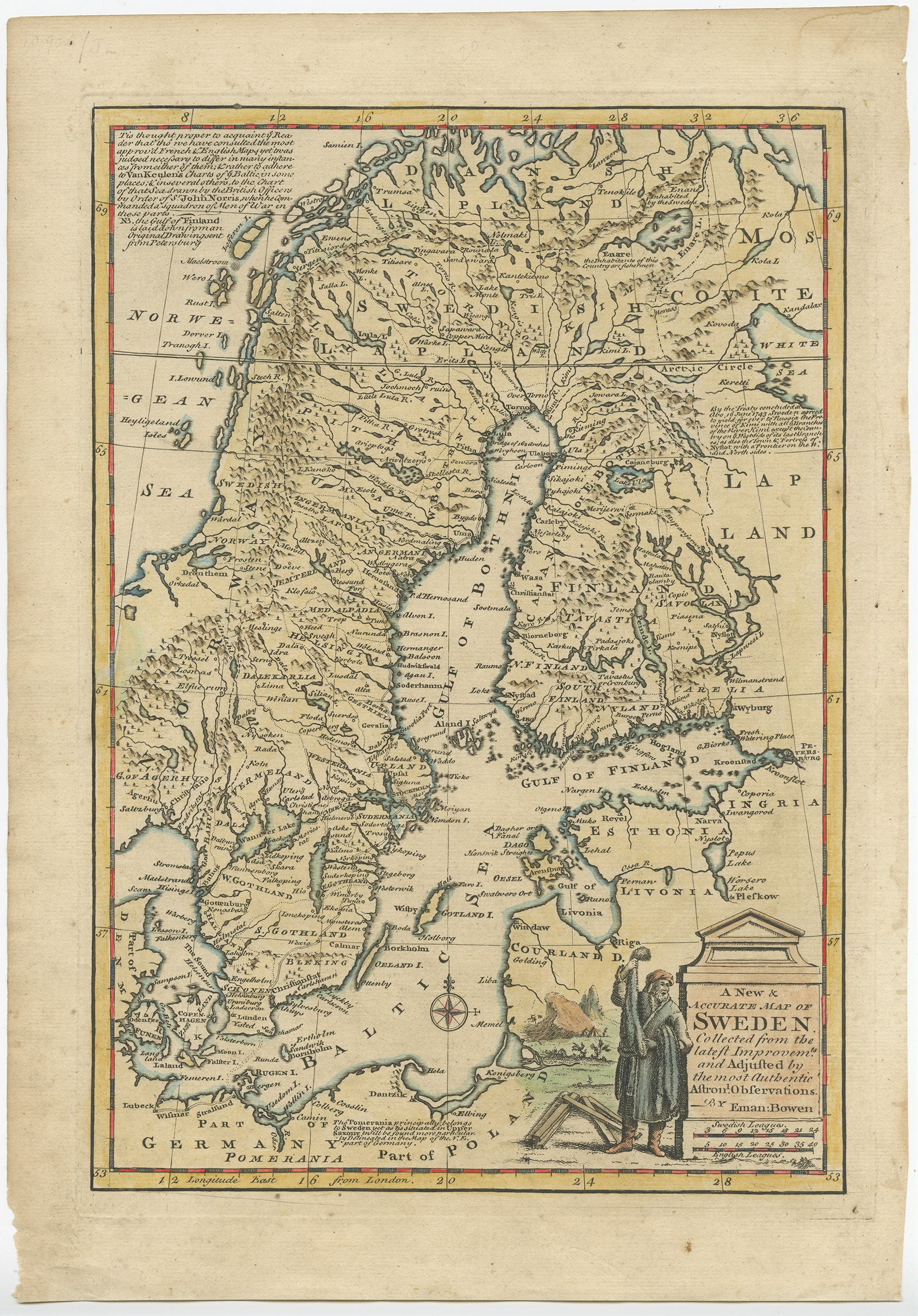 A New & Accurate Map of Sweden - Bowen (1747) | eBay