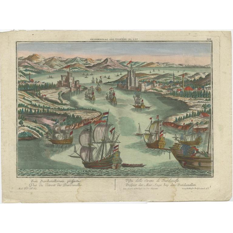 Freti Dardanellorum prospectus - Probst (c.1765)