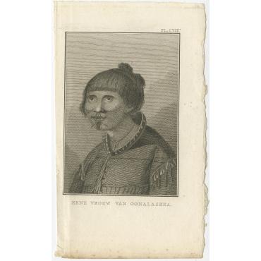 Eene Vrouw van Oonalashka - Cook (1803)