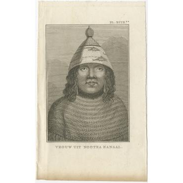 Vrouw uit Nootka Kanaal - Cook (1803)