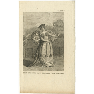 Een Meisjen van Otahiti danssende - Cook (1803)
