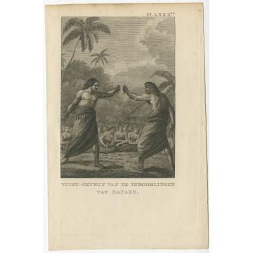 Vuist-Gevegt van de Inboorlingen van Hapaee - Cook (1803)
