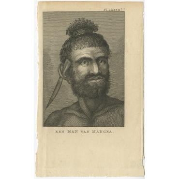 Een Man van Mangeea - Cook (1803)