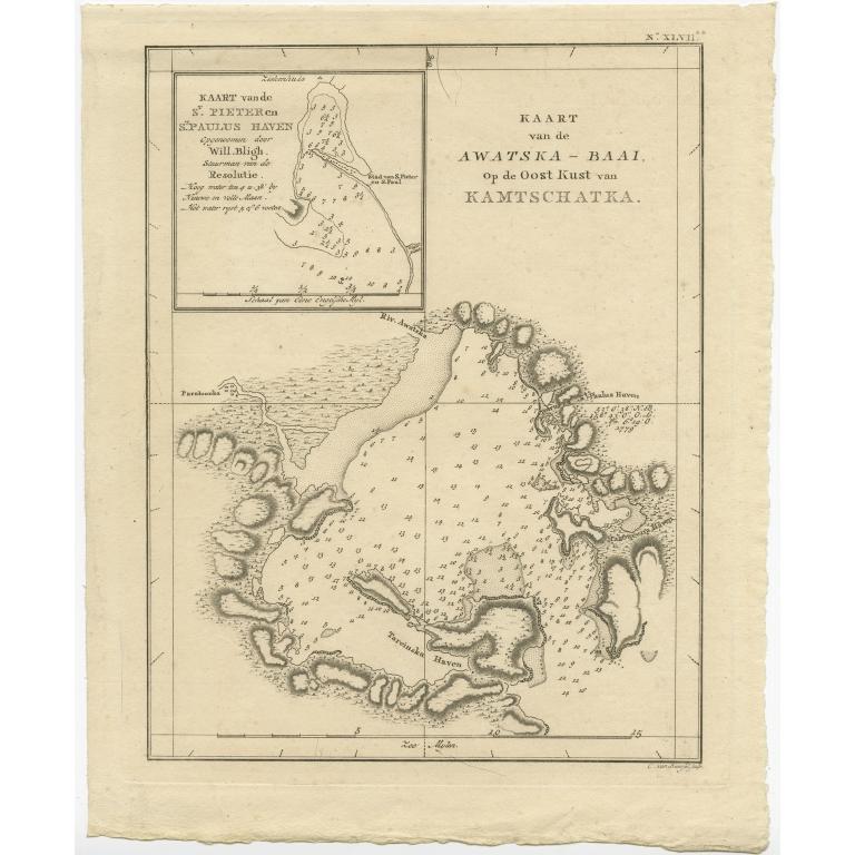 Kaart van de Awatska-Baai (..) - Cook (1803)