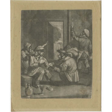 Untitled Print Monkeys Playing Cards - Smith (c.1730)