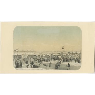 Gezicht van het Bolwerk op de Maas - Van Reyn (1855)