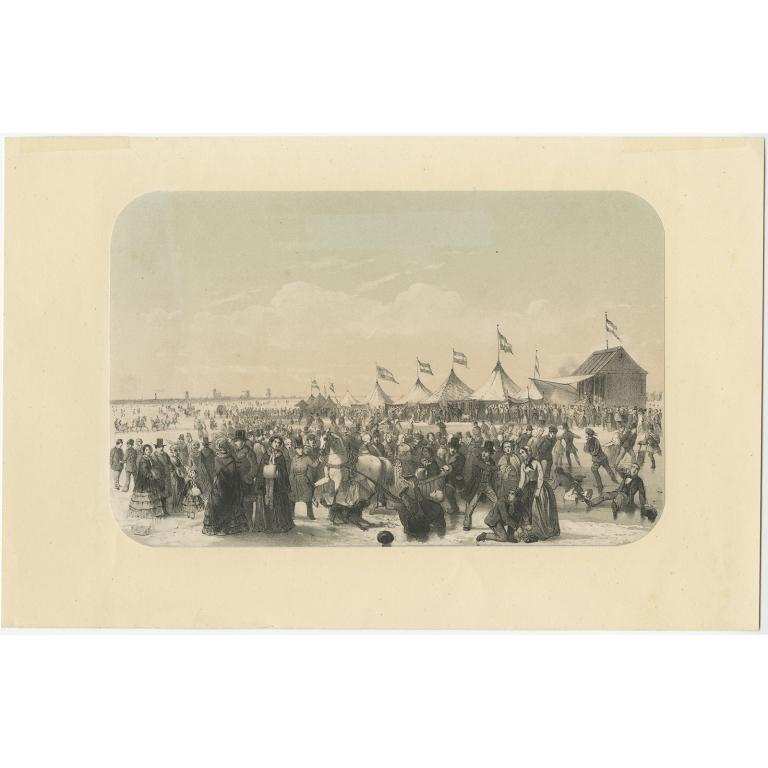 De Schaatsenrijdersbaan op de Maas - Van Reyn (1855)