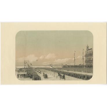 Gezicht op de Harddraverij met Paard (..) - Van Reyn (1855)