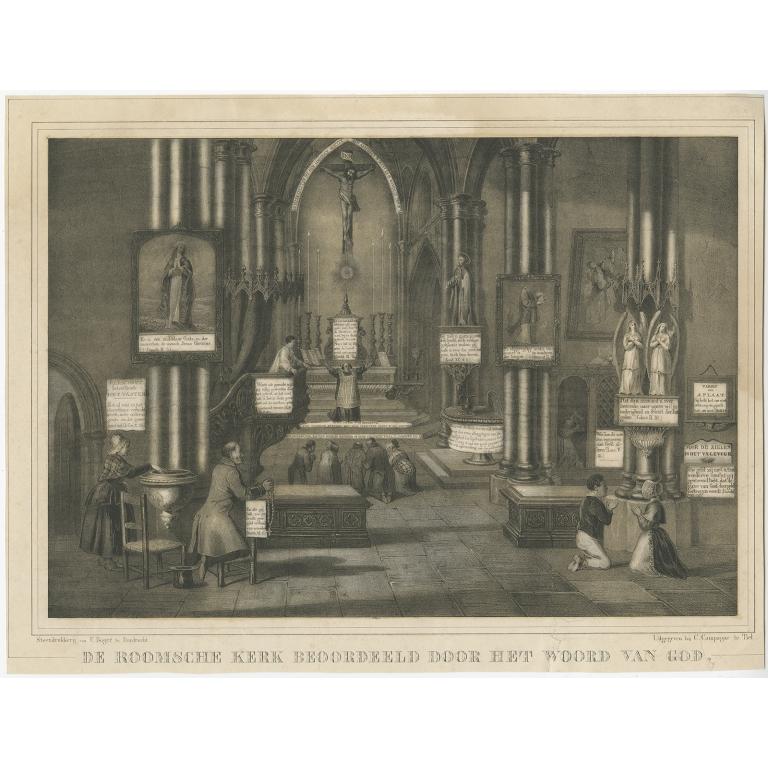 De Roomsche Kerk beoordeeld (..) - Campagne (c.1853)