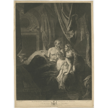 Batsheba bringing Abishag to David - Earlom (1779)