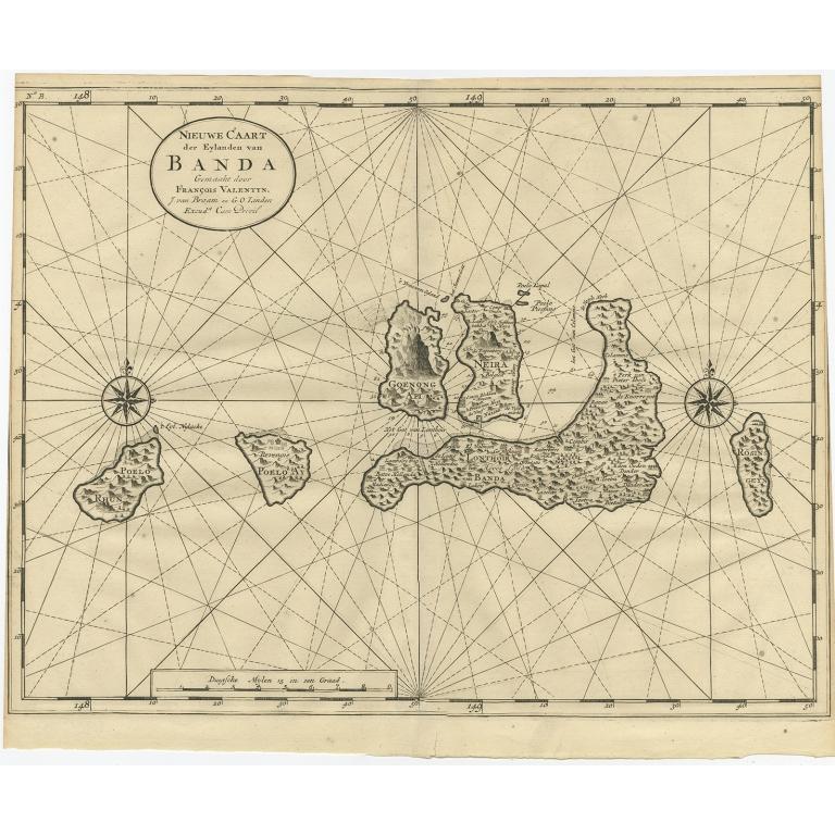 Nieuwe Caart der Eylanden van Banda - Valentijn (1726)