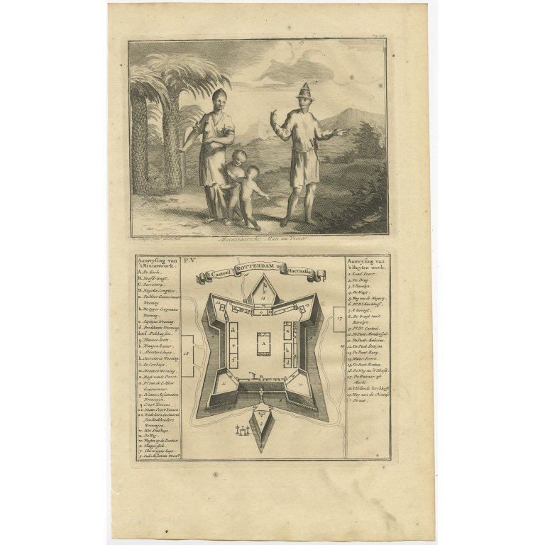 Casteel Rotterdam op Maccassar - Valentijn (1726)
