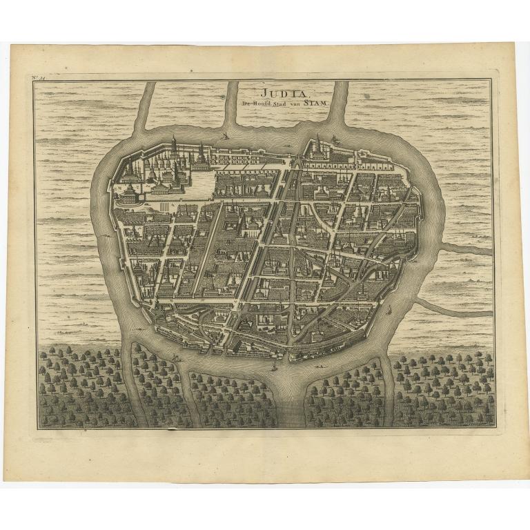 Judia, De Hoofd-Stad van Siam - Valentijn (1726)