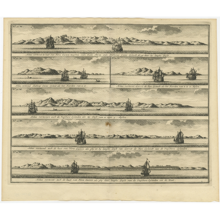 Aldus vertoond de Kust van Nova Guinea (..) - Valentijn (1726)